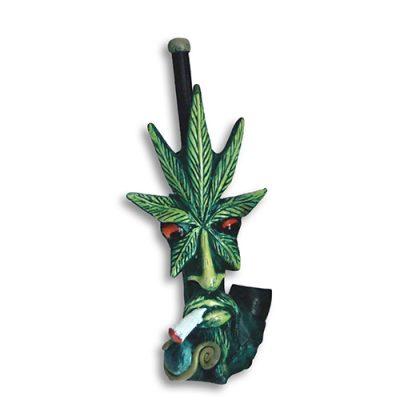 JROS Smoking Cannabis leaf smoking pipe