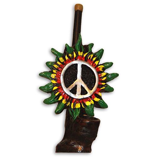 JROS Peace sign in sun smoking pipe