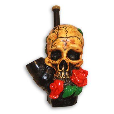 JROS Rose Skull smoking pipe