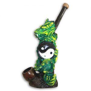 JROS Yin Yang dragon smoking pipe